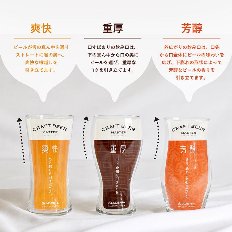 爽快・重厚・芳醇の3種類