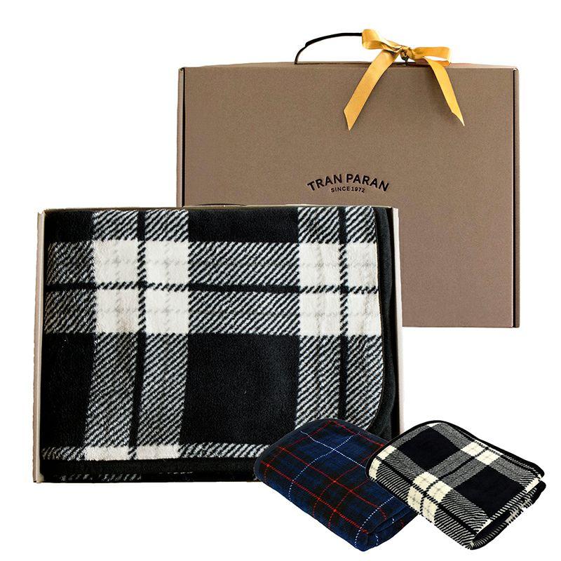 トリコブランケット ギフトボックス付き ひざ掛け 大判 スナップボタン付き ポンチョ 着る毛布