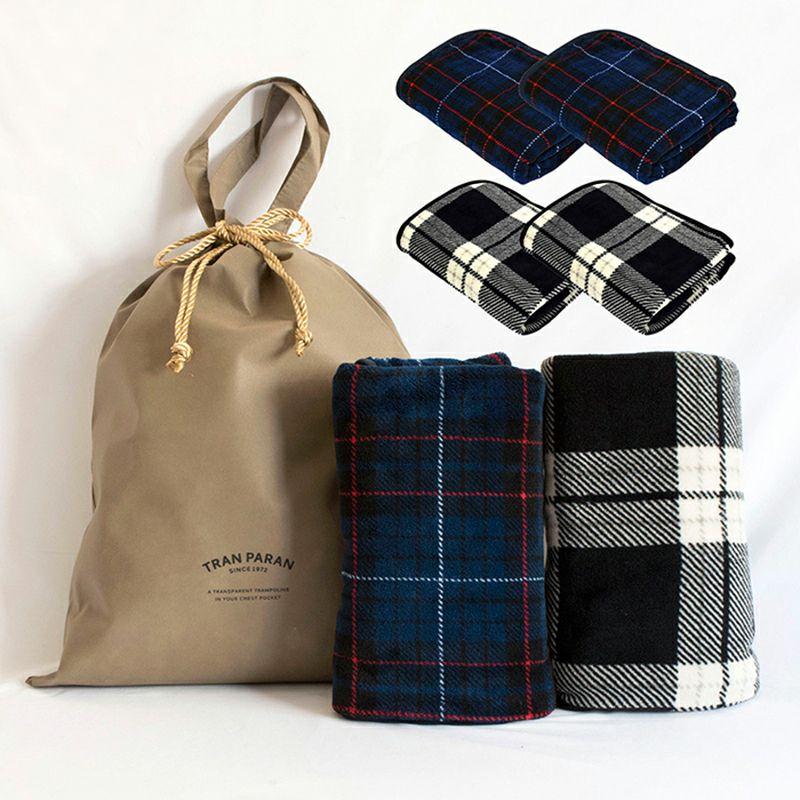 トリコブランケット 2枚セット ギフトバッグ付き ひざ掛け 大判 スナップボタン付き ポンチョ 着る毛布